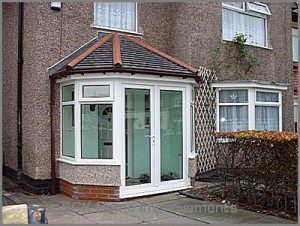 Aluminium french door porch