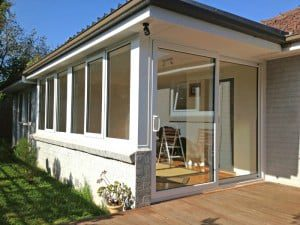 White PVCu patio door.